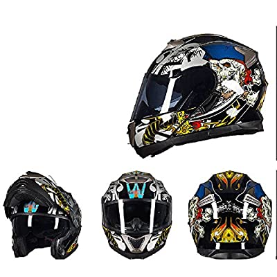 MERRYHE Allround Helmets Double Lens Full Face Helmets Anti-fog Motorcycle Flip Up Helmet For Mens Womens Boys Girls All Season from Toukui