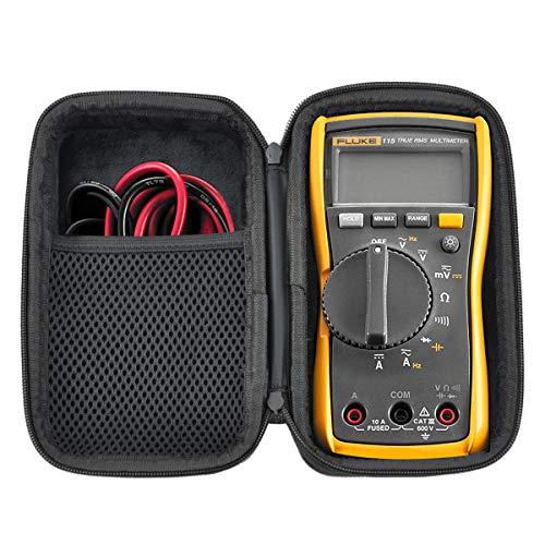 HESPLUS Tasche für Fluke 117/116/115/114 Digital-Multimeter, stoßfest, wasserfest, EVA-Hartschale mit Innentasche für Messleitungen