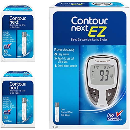 Contour Next KIT, Includes 1 Glucose EZ Monitoring System + 100 Test Strips