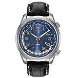 SWISS MILITARY-HANOWA Herren Analog Quarz Uhr mit Leder Armband 06-4293.04.003