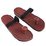 Massager di legno Accupressure Chappal, con fascia elastica per adattarsi sulle gambe