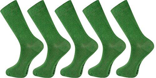 Mysocks® 5 Paare Knöchelsocken Grün