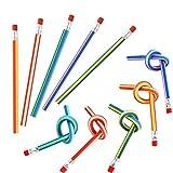 Crayons Flexibles Crayon à Papier Flexible 50 Pièces de Bandes de Couleur Douce avec Gomme Amusante et Crayon Magique Pratique pour Cadeau pour Enfants