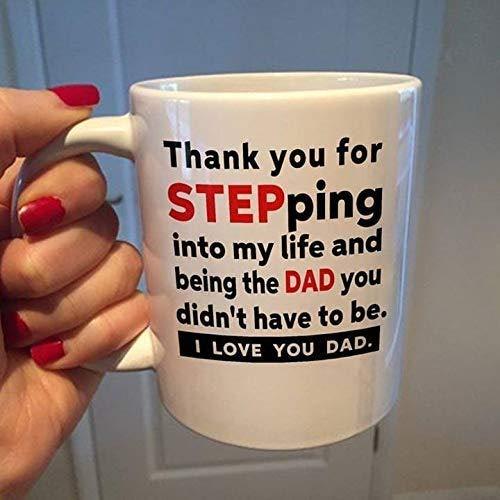 Lplpol Thank You For Stepping Into My Life I Love You Dad Mug Gift Coffee Mug Tea Mug Coffee Mug Tea Mug, 11 Oz