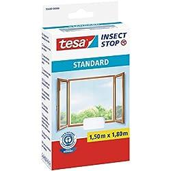 Tesa 55680-00000-01 Moustiquaire pour fenêtre Standard Blanc
