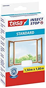 Tesa 55680 Zanzariera per Finestra Standard, Bianco, 1.5 x 1.8 m