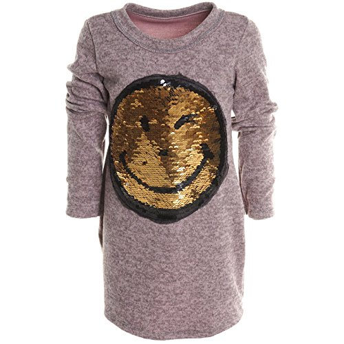 Mädchen Longshirt Bluse Shirt Pullover Langarmshirt Strickkleid Sweatshirt 20676, Farbe:Rosa;Größe:164