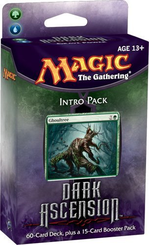 Magic the Gathering Dark Ascension DKA Sealed Intro Starter Deck Green Blue Grave Power by Wizards of the Coast (English Manual) (Starter Pack Magic The Gathering)