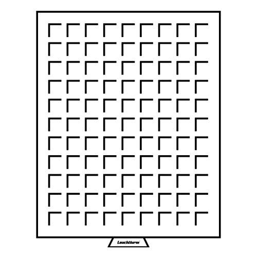 Leuchtturm 333127 MB Münzbox 19 x 19 mm | Eckige Fächer | Für Diverse Kaiserreich, Weimar, 3. Reich, US Pennies, US Dimes | Rauchfarben -