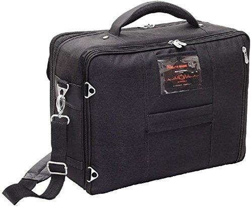 ELITE BAGS DOCTOR´S Arzttasche schwarz-grau (40 x 30 x 16cm) inkl. Ampullarium und Modultaschen!