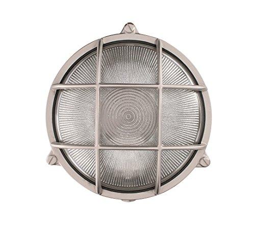 'NB lighting-applique, plafonier Messing rund nickel-Finish, Rondo Art 10B, Verbreiten Glas transparent Edelstahlhülse Porzellan E27max. 60W 19,5x 9,3cm (10b Finish)