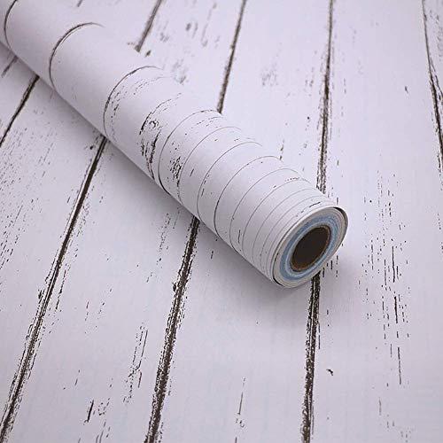 GJC PVC Selbstklebende Tapete Holzmaserung Wandaufkleber Schlafzimmer Wohnzimmer Dekoration Wandbild Aufkleber Selbstklebende Aufkleber 10 * 0,45 Mt,M