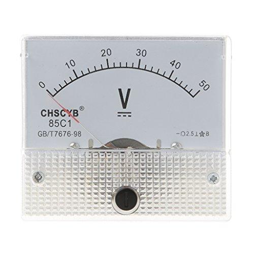 Cutebility Gauge DC 0-50V Analog Panel Meter Voltage Volt Meter Voltmeter 85C1 Detect Test Spannungsprüfer Multimeter 50v Analog
