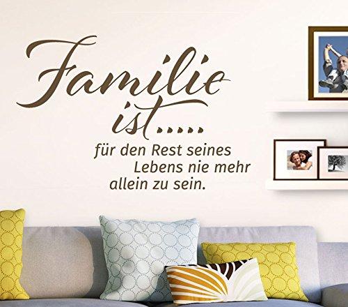 Wandtatoo-Günstig G071 Spruch Familie ist... Wandaufkleber Wandsticker Flur Wohnzimmer schwarz (BxH) 89 x 58 cm