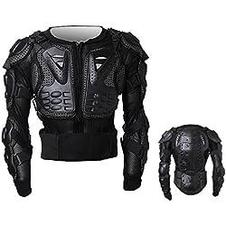 Peto Integral Moto, Motocross, Enduro, chaqueta Proteccion NEGRO M L XL XXL XXXL (XL)
