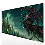 Tapis de souris Gaming XXL 900x400mm Grand Sous Main Bureau Tapis souris Gamer (90x40 Illidan Stormrage003)
