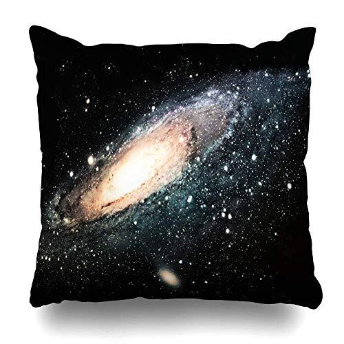 Klotr Decorative Kissenbezug Galaxy Universe Spiral Nature Space Outer Nebula Cosmos Creatifinity Design Sky Home Decor Pillowcase Square Size 18