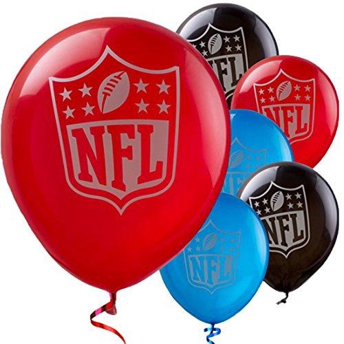 Dildoridoo - Party Dekoration Latexballon - NFL - 6 Stück, 30cm, Mehrfarbig