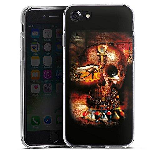 Apple iPhone X Silikon Hülle Case Schutzhülle Totenkopf Ägypten Symbol Silikon Case transparent
