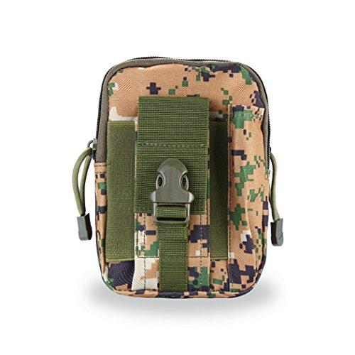 VENI MASEE Outdoor Camo Compact Multipurpose Taktische Taille Tasche Pack EDC Utility Gadget Beutel mit Telefon Holster Halter, 9 Farben Camo1