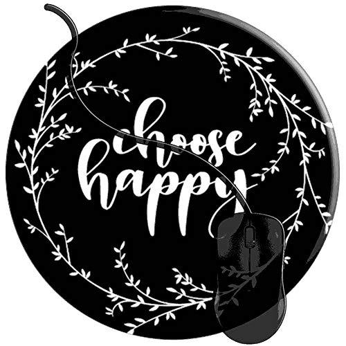 Mauspad Wählen Sie Happy, Runde Gaming Mauspad Matte Reibungslos Weich Rutschfester Gummi Basis für PC Laptop 1U977