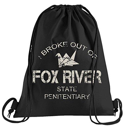 T-Shirt People Fox River Sportbeutel - bedruckter Beutel - eine schöne Sport-Tasche Beutel mit Kordeln