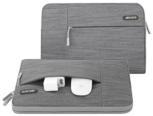 Imagen de mosiso  para portátiles, funda de tela de mezclilla funda para 11  11.6 pulgadas acer chromebook 11, c740, c720, c720p / hp corriente 11 / macbook air / samsung chromebook 2 / ordenador portátil, gris alternativa