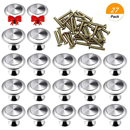 SelfTek 25 Piezas de Perillas de Gabinetes de Cocina con Cajones Redondos con 2 Piezas de Gabinete Pequeño Extraible