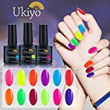 Ukiyo 12PCS fluorescente 10ml Soak Off kit smalto semipermanente UV LED unghie in Gel gel polish Nail Art set