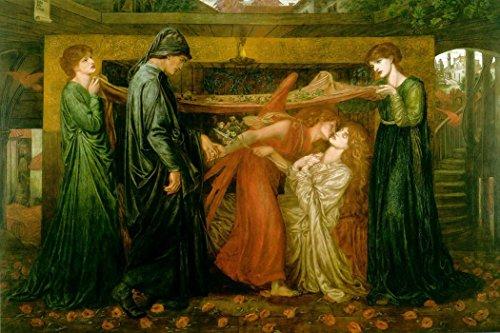 Bad Zeit, Gerahmt (Das Museum Outlet–Dante Alighieri Serie–Dante 's Dream Zeit des Tod von Beatrice, 1871–A3Poster)