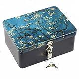 Gperw Einzigartiges Design Mittlere rechteckige kreative abschließbare Weißblech-Aufbewahrungsgeschenk-Box (Zweig)
