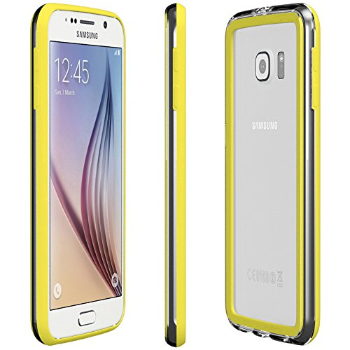Samsung Galaxy S4 / S4 Neo Hülle - EAZY CASE Premium Bumper Handyhülle aus Silikon - Ultra Slim Schutzhülle für das Smartphone in Schwarz Gelb
