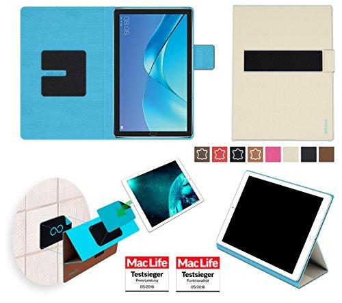 Huawei MediaPad M5 8 Hülle Cover Case in Beige - innovative 4 in 1 Tablethülle - Anti-Gravity Wandhalterung KFZ Halterung Tischaufsteller Schutzhülle - Tablet Halterung für Auto und Wand ohne Werkzeug oder Kleber - Der MacLife Testsieger - Tasche Etui Bumper für das Original Huawei MediaPad M5 8 von reboon (Kleber Taschen)