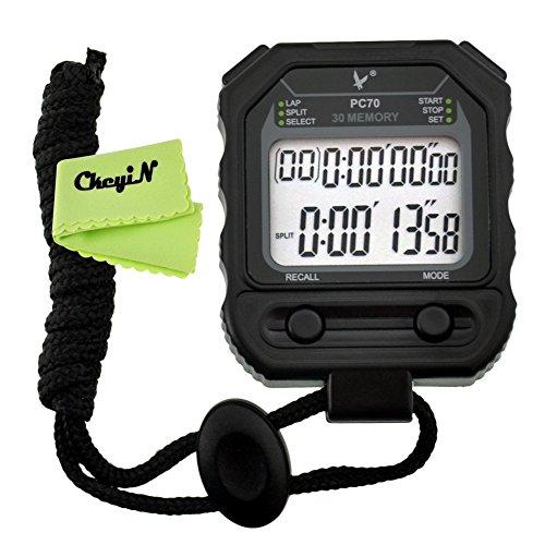 Ckeyin ® Cronometro, 30 Memoria , 2 Fila, Cronometro Atletica Dedicati