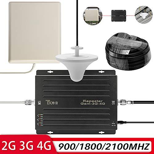 KKmoon Amplificador señal 100-240V Tri Band Amplificador