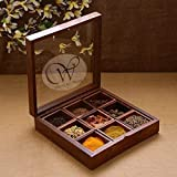 Wood Art Store Wooden Utility/Masala Box With Transparent Top