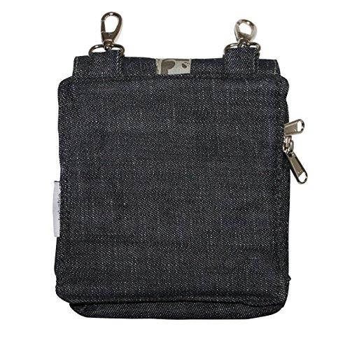 Freak Scene® Tasche ° Gürteltasche ° Amy ° Bauchtasche ° Hüfttasche ° Gürtelband mit abnehmbarer Tasche ° alle Farben!!! Jeans Blätter