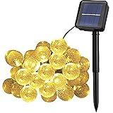 Cooolla Catene Luminose Solare 10M 50 LEDs Ghirlanda di luci LED - Catena luminosa a Energia Solare per esterni Bianco Caldo per Decorazioni di Natale, Giardino, Patio, Feste, Matrimoni