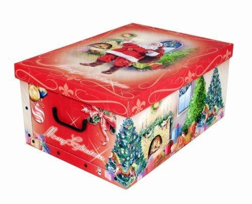 """XXL Dekokarton mit tollem Weihnachtsmotiv\""""Weihnachtsmann\"""" - kräftige Rote Farben und XXL Volumen!"""