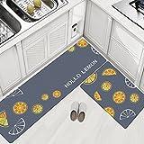 Küchenläufer, rutschfest ungiftig Moderne dünne Bodenbelag Matte - Geeignet für Küche, Bad, Schlafzimmer, Wohnzimmer, etc (3, M)