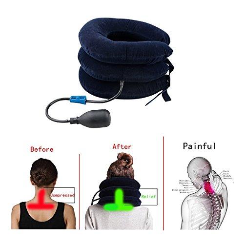 Funwill, collare gonfiabile per cervicale e trazione del collo, allevia il dolore