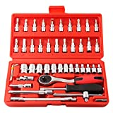 Best Socket Sets - Tuftul Socket and Bit Set, 46 Pieces, Red Review
