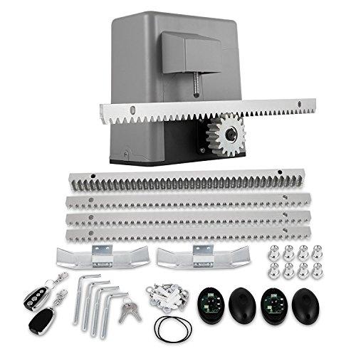 FORAVER 600kg/1300LBS Electric Garage Door Opener 4M Rail Gate Opener Operator Sliding Door Kits Garage Door Remote Control Kit(PY600)