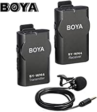 SHOPEE New BOYA BY-WM4 Universal Lavalier Wireless Microphone Mic with Real-Time Monitor