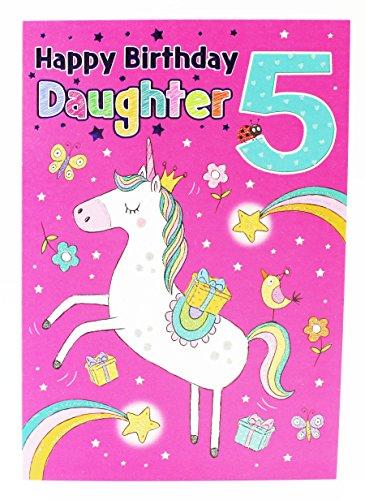 Happy 5. Geburtstag Einhorn Hallmark Grußkarte Tochter Milestone Andenken (Little Einer Tasche In Pony My)
