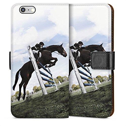 Apple iPhone 5s Housse étui coque protection Cheval Équitation Faire du cheval Sideflip Sac