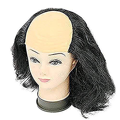 (LONTG Halloween Kurze Perücke Glatze Kunsthaar in Karneval Kostümparty Cosplay Fasching Spielen Haarteile Unisex für Damen Frauen Wig lustig als Old Women Alte Dame Modellierung Schwarz Weiß)