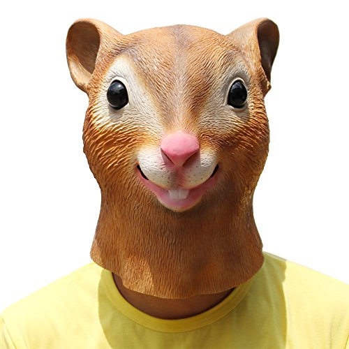 PartyCostume - Eichhörnchen Maske - Halloween Latex Maske Der Kopf