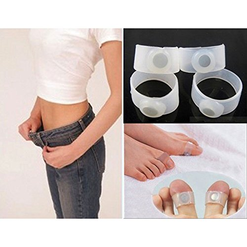 Akruti 1 pair Magnetic Silicone Double Toe Ring Diet Slimming Product Spa Massage Ultra Popular Fitness Slimming Toe Rings Weight Loss