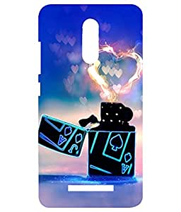Redmi Note 4 Printed Sparkle Back Cover / Premium Best Quality Designer / Printed Back Cover Imported - Burning Heart